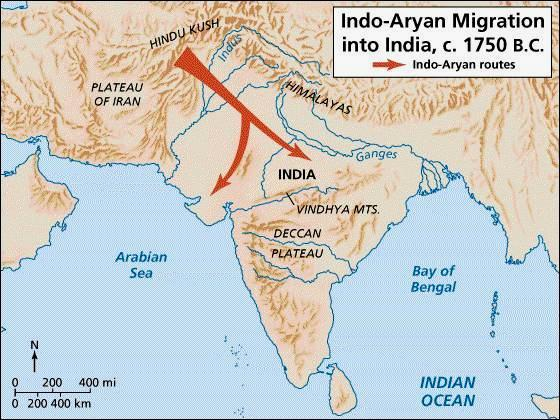 Arrival of the Aryans 1500 BC Aryans migrate into the valley No cities, no physical