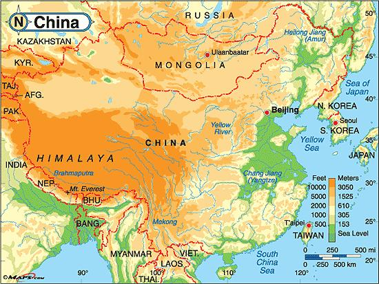Rise of Civilization in China Center of the Earth Himalayas; Gobi Desert; Rainforest; Pacific all