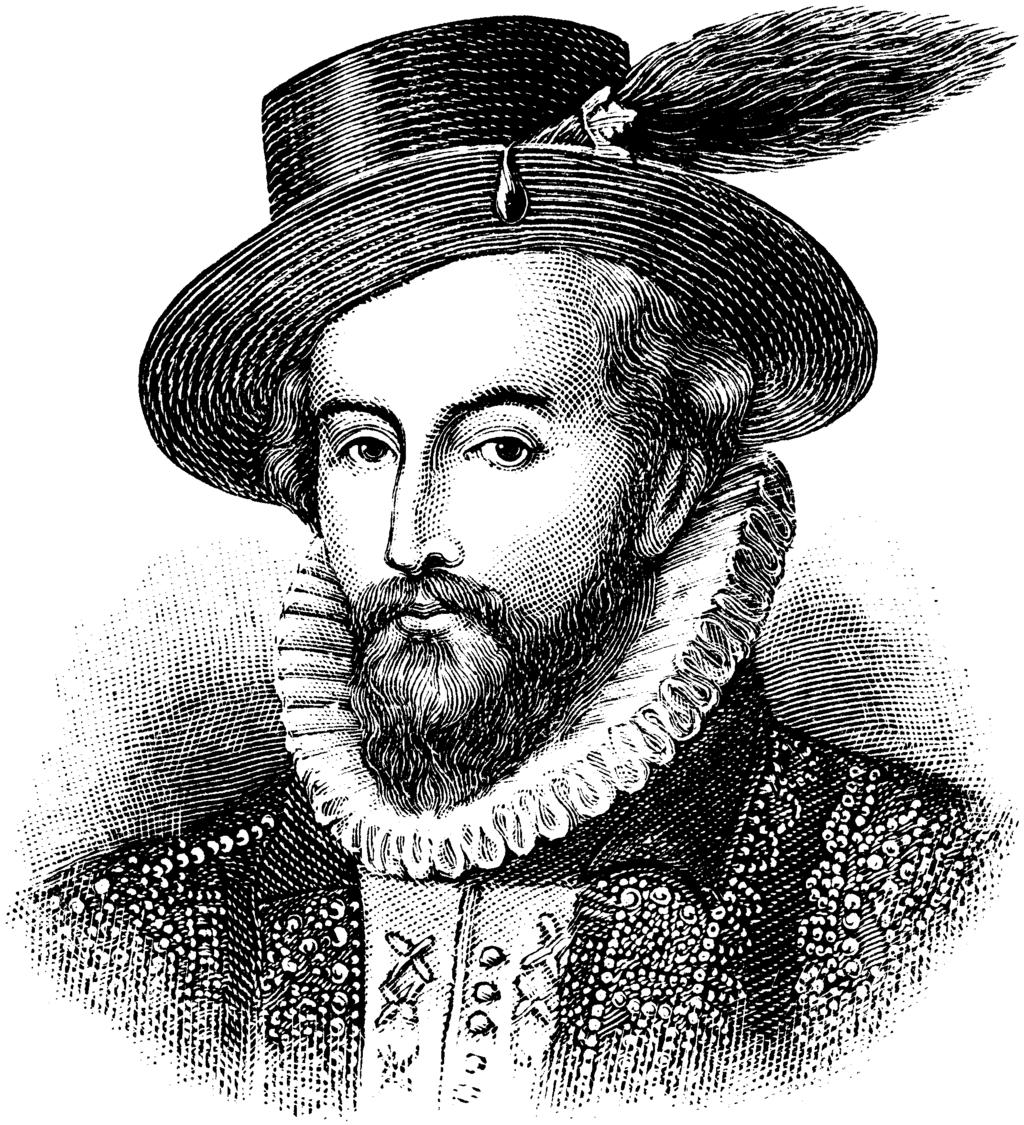 Sir Walter Raleigh Roanoke Sir Walter Raleigh was an English explorer, soldier and writer. At age 17, he fought with the French Huguenots and later studied at Oxford.