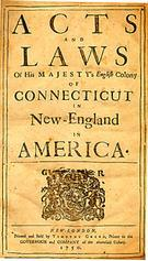 The first constitution in the American colonies, the Fundamental Orders, was adopted by representatives in 1639.