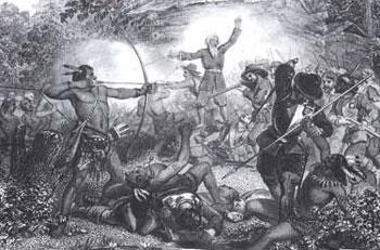 King Philips War Patroons Most colonist moved onto Native American lands without permission or payment. Throughout the colonial period, settlers and Native Americans competed fiercely for land.
