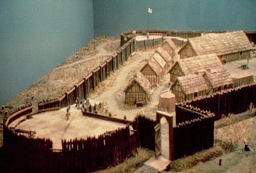 Jamestown May 1607 settlers began building the first permanent English settlement on the James River in