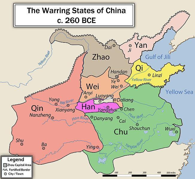Period of the Warring States Zhou dynasty faces trouble in 403 BCE Civil war breaks out, lasts about 180 years Improvements in warfare