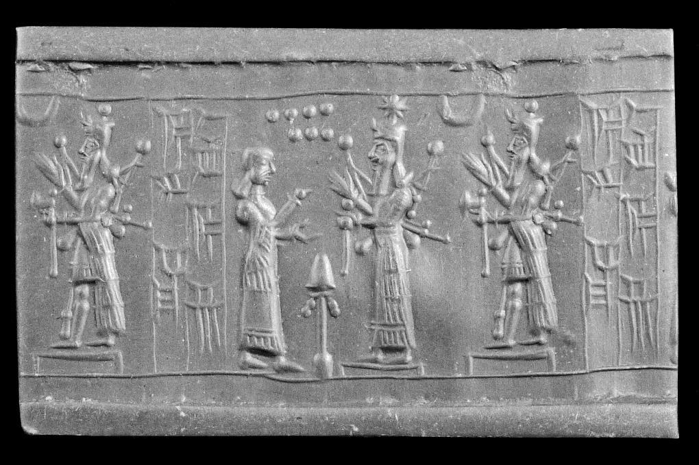 Blmj 2789 A Neo Assyrian Cylinder Seal With A Healing Scene In A