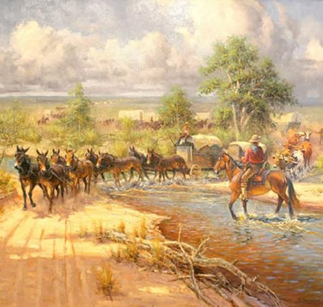 The Santa Fe Trail allowed