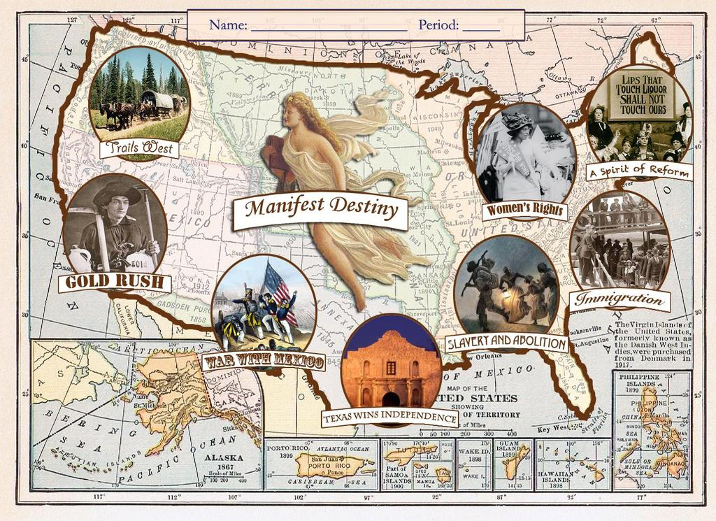 Manifest Destiny o What do the words manifest destiny mean?