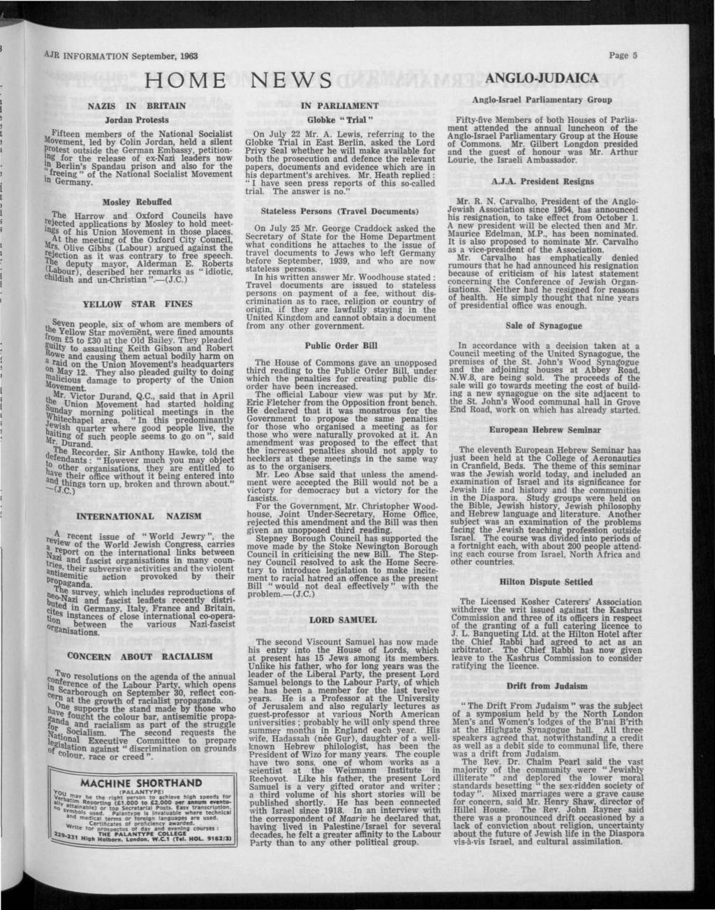 INFORMATION ISSUED BY THE ASSOCIATION OF JEWISH REFUGEES IN GREAT ...