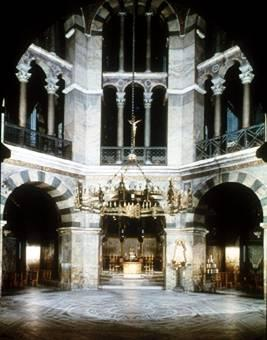 The Palatine Chapel of Charlemagne Charlemagne s palace at Aachen, Germany, built about 792-805, is one of the finest