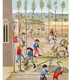 Serfdom in the Middle Ages During the Middle Ages in Europe, peasants became legally bound to live and work in one place in servitude to wealthy landowners.