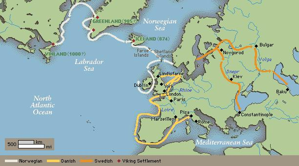 Routes of the Vikings The Vikings were both a warrior and farming society from the region now known as Scandinavia.