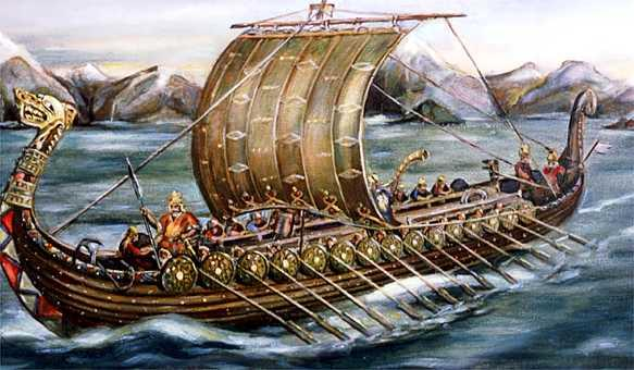 Viking Raiding Party Viking ships, because of their shallow draft, were able to successfully navigate rivers and streams that many other vessels could