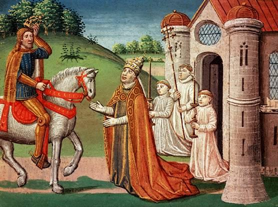 Charlemagne and the Pope The Frankish king Charlemagne was a devout Catholic who maintained a close relationship with the papacy throughout his life.