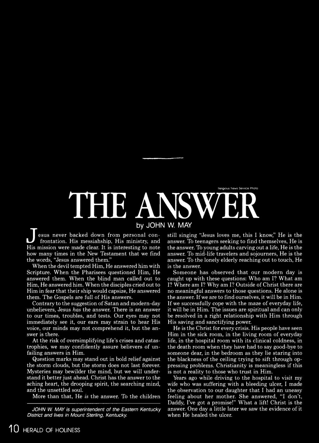 Herald of holiness volume 75 number 06 1986 pdf contrary to the suggestion o f satan and modern day unbelievers jesus has the answer fandeluxe Gallery