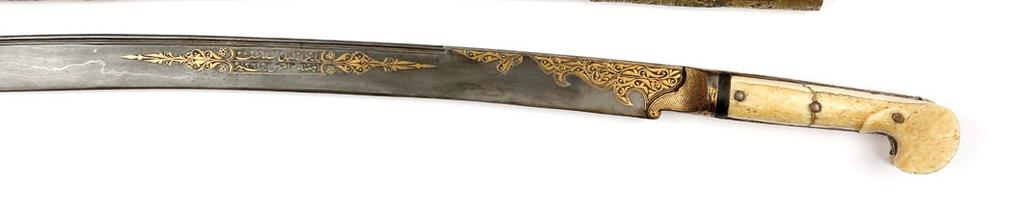 In scabbard approx 69 cm Out of scabbard approx 65 cm Blade length approx 52 cm $ 6,000-8,000 QAR 21,900-29,200 171.