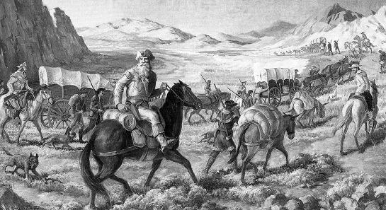 1 The Trail to Santa Fe Mexico gains independence (1821), opens borders to American traders William Becknell goes to Santa Fe, New Mexico, opens Santa Fe Trail Makes profit