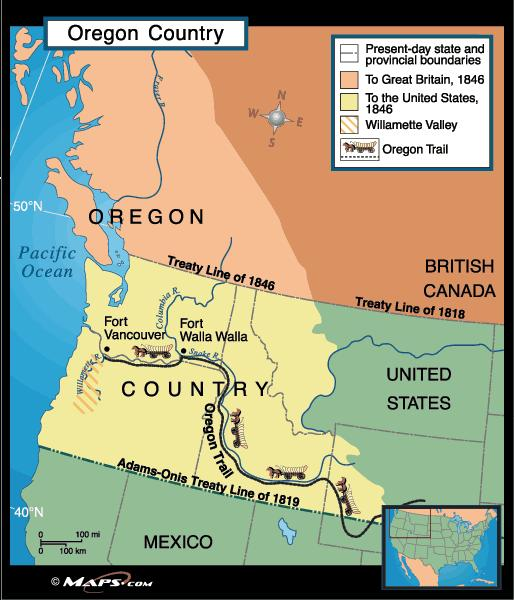 Oregon (1846): 54 40 or Fight!
