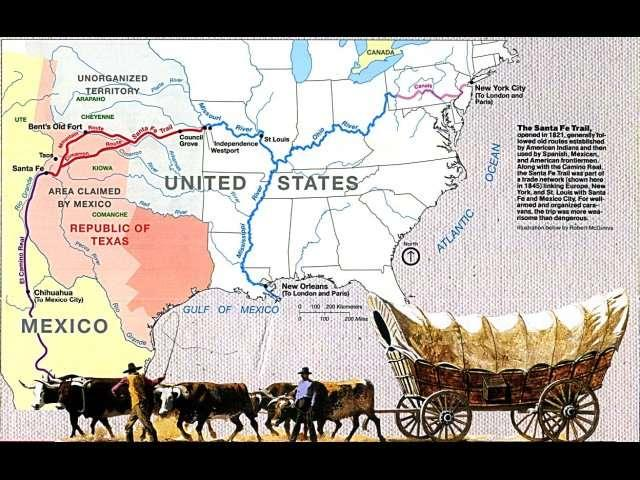 The Santa Fe Trail, from