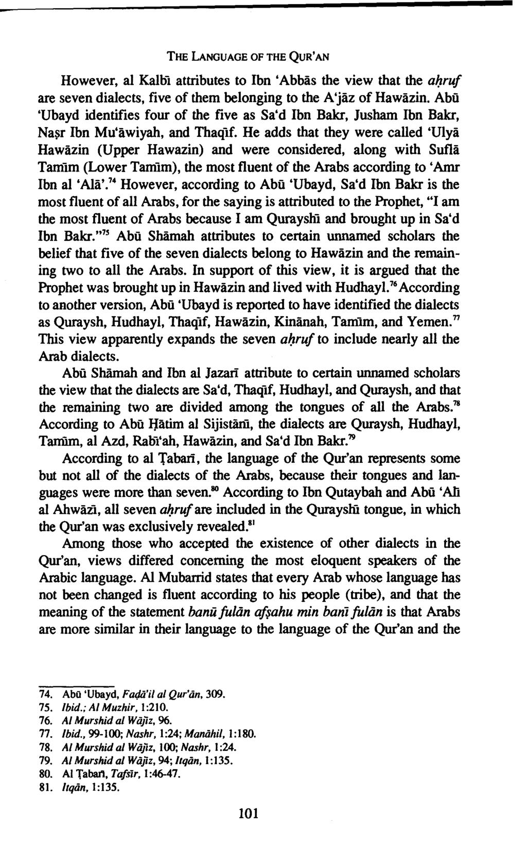 Variant Readings Of The Qur An Pdf Stambul Mini 30 Juz Language Quran However Al Kalbi Attributes To Ibn Abbas