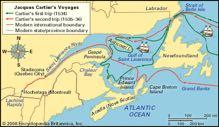 Lawrence River area of North America early 1600s: Samuel de