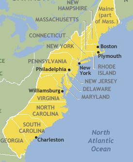 The New England Colonies Made up of Massachusetts, New Hampshire, Rhode Island and Connecticut.