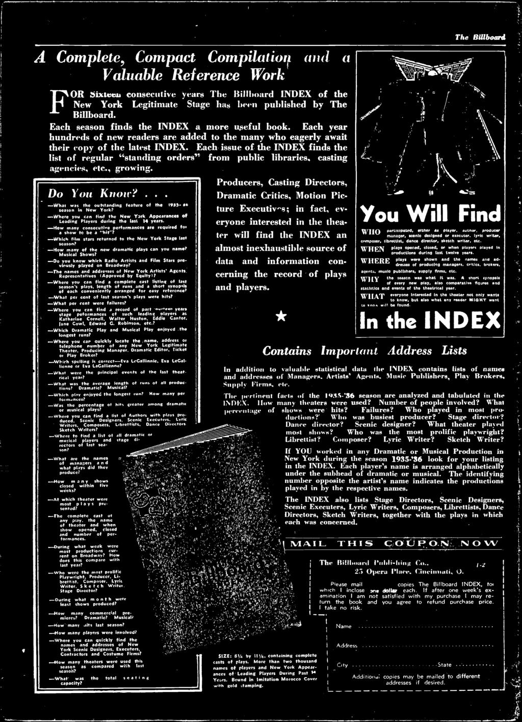 Iii xxx the worlds foremost amusement weekly 5 cents each issue of the index finds the list of regular standing orders from public fandeluxe Gallery