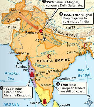 The Decline of the Mughal Empire The Mughal Empire grew weak by 1700 as kings spent too much money on palaces & war In addition, the large population of Hindus in
