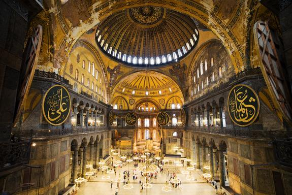 The Hagia Sophia (translation: Church of the Holy Wisdom) -the Hagia Sophia was a