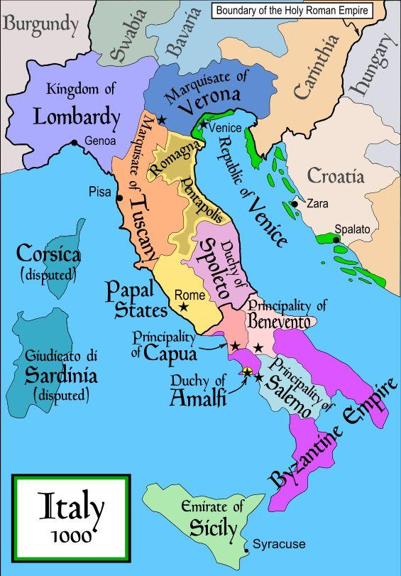 Italy Italy was decentralized under a mixture of Catholic states, city-states, and principalities.