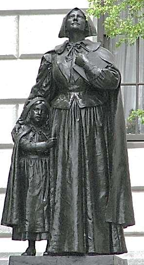CONFLICT WITHIN THE PURITAN RANKS Anne Hutchinson questioned Puritan authorities Taught antinomianism faith alone is necessary for salvation Placed on trial for sedition: banished; she and followers