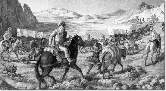 Opening up the Border William Becknell of Missouri led a caravan of traders to Santa Fe -