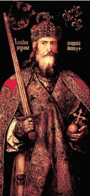 Charlemagne After Charles Martel s death, his son Pepin took over appointed King by the pope, then his