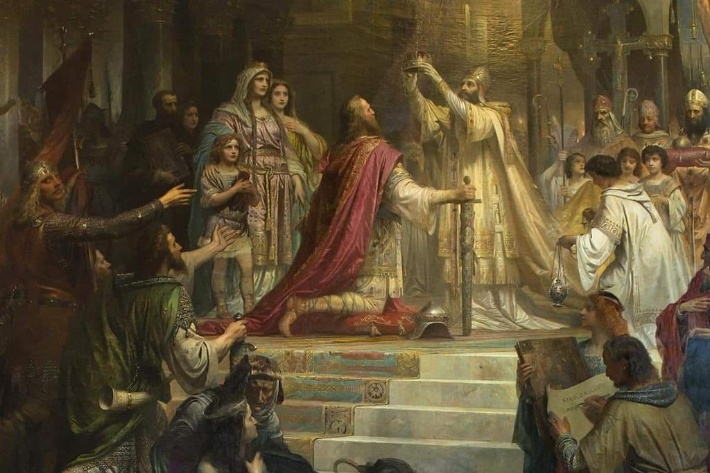 Emperor of the Romans In 799, Pope Leo III asked for help against rebellious nobles in Rome, Charlemagne helped out On Christmas