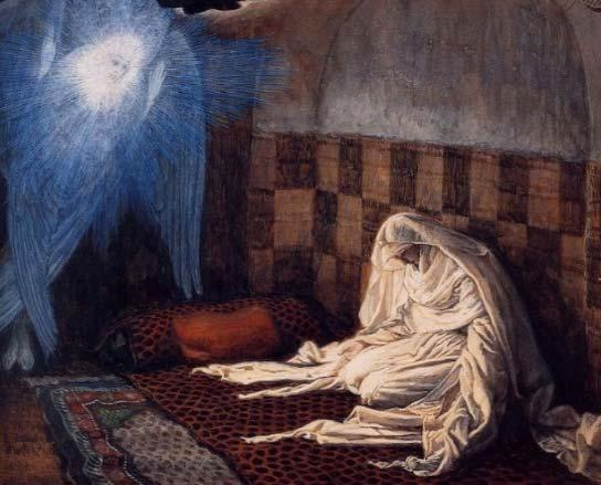 The First Mystery: The Annunciation.