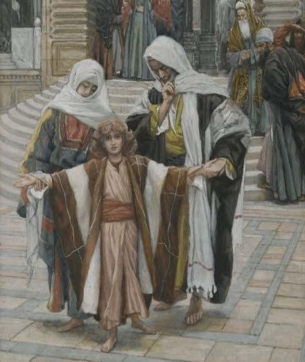 The Fifth Mystery: The Finding in the Temple Each year his parents went to Jerusalem for the feast of Passover, and when he was twelve years old, they went up according to festival custom.